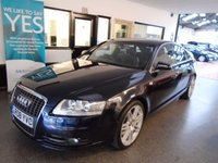 """USED 2008 08 AUDI A6 2.7 TDI LE MANS EDITION 4d AUTO 177 BHP Only 3 owners. This A6 S Line Le Mans Edition is finished in  night blue pearl with heated leather S Line embossed seats. It is fitted with power steering, remote locking, climate control, cruise control, electric windows and mirrors , storage pack,  CD Stereo, 17"""" alloy wheels and more, and comes with an excellent service history with receipts, The current Mot runs till September 2019 but we will supply the and a 6 month warranty which is extendable."""