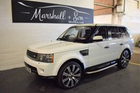 USED 2010 10 LAND ROVER RANGE ROVER SPORT 3.0 TDV6 HSE 5d AUTO 245 BHP LOVELY CONDITION - FACTORY REAR DVD - NAV - TV - 7 STAMPS TO 62K MILES