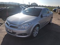 USED 2008 58 VAUXHALL ASTRA 1.8 TWIN TOP DESIGN 3d 140 BHP CONVERTIBLE CABRIOLET, SAT NAV