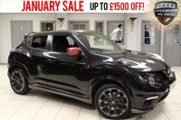 USED 2015 15 NISSAN JUKE 1.6 NISMO RS DIG-T 5d 215 BHP - full service history  HALF LEATHER SEATS + FULL SERVICE HISTORY + SATELLITE NAVIGATION + REVERSE CAMERA + BLUETOOTH + 18 INCH ALLOYS + DAB RADIO + LED DAYTIME LIGHTS + KEYLESS START