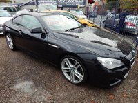 USED 2013 13 BMW 6 SERIES 3.0 640D M SPORT 2d AUTO 309 BHP BIEGE LEATHER INTERIOR, COLOUR SCREEN SAT , F.S.H, ALLOYS