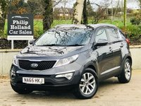 USED 2015 65 KIA SPORTAGE 1.7 CRDI 2 ISG 5d 114 BHP Panoramic roof, Half leather, Cruise control