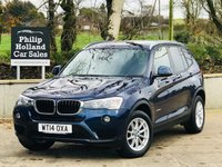USED 2014 14 BMW X3 2.0 XDRIVE 20D SE 5d AUTO 188 BHP Sat Nav, Full leather, Heated seats, Front / Rear parking sensors, Power tailgate