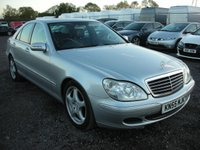 USED 2005 55 MERCEDES-BENZ S CLASS 3.2 S320 CDI SE 4d AUTO 204 BHP Full leather - Parking sensors - Sunroof