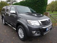 USED 2015 15 TOYOTA HI-LUX INVINCIBLE X 4X4  DOUBLE CAB PICK UP AUTO 3.0 D-4D169 BHP Top Of Range Hilux Invincible X  Direct From Leasing Company With Full Toyota Service History, Stunning Example Viewing Recommended!