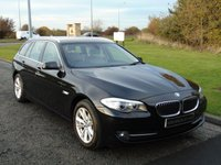 USED 2012 12 BMW 5 SERIES 2.0 520D SE TOURING 5d AUTO 181 BHP HEATED OYSTER LEATHER