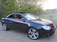 2007 VOLKSWAGEN EOS 3.2 SPORT FSI DSG 2d AUTO Jet Black with Red Leather Interior / Fully Loaded £4495.00