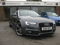 USED 2014 14 AUDI A5 2.0 TDI S LINE SPECIAL EDITION 2d AUTO 175 BHP Navigation Heated seats Xenon headlights Full Audi Service History