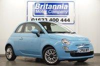 2015 FIAT 500 1.2 POP STAR 3 DOOR 70 BHP £6290.00