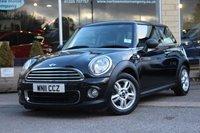 2011 MINI HATCH ONE 1.6 ONE 3d 98 BHP £5804.00