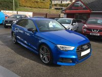 USED 2017 17 AUDI A3 2.0 S3 TFSI QUATTRO BLACK EDITION 4d AUTO 306 BHP BLACK EDITION, SAT NAV, HEATED BLACK LEATHER, BANG OLUFSEN SOUND SYSTEM
