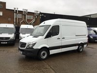 USED 2014 14 MERCEDES-BENZ SPRINTER 2.1 313CDI MWB HIGH ROOF 130BHP. 1 OWNER. FSH. 70K. FINANCE. 1 OWNER. LOW FINANCE RATE. 70K. FSH. PX WELCOME