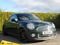 USED 2015 15 MINI COUPE 1.6 COOPER 2d * LOW MILEAGE SPORT COUPE * HALF LEATHER SPORT SEATS *