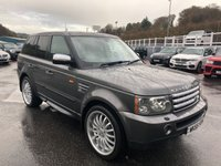 USED 2005 55 LAND ROVER RANGE ROVER SPORT 2.7 TDV6 HSE 5d 188 BHP Met Grey, Black leather, 22 inch alloys, high specification