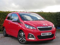 USED 2015 65 PEUGEOT 108 1.2 FELINE 3d  * ONE OWNER FROM NEW * TOP SPECIFICATION * FULL SERVICE HISTORY *