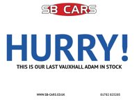 USED 2014 14 VAUXHALL ADAM 1.4 GLAM 3d 85 BHP FULL SERVICE HISTORY: