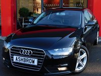 USED 2015 65 AUDI A4 2.0 TDI ULTRA SE TECHNIK 4d 163 S/S £740 OF OPTIONAL EXTRAS, UPGRADE HEATED FRONT SEATS, UPGRADE LED INTERIOR LIGHT PACK, UPGRADE ELECTRIC FOLDING HEATED AUTO DIMMING DOOR MIRRORS, HDD SAT NAV WITH JUKEBOX & DVD PLAYBACK (MMI NAVIGATION PLUS), FULL LEATHER INTERIOR, DAB RADIO, WIRELESS LAN CONNECTION (WLAN), BLUETOOTH MOBILE PHONE PREP WITH MUSIC STREAMING, AUDI MUSIC INTERFACE, FRONT & REAR PARKING SENSORS WITH DISPLAY, CRUISE CONTROL, LIGHT & RAIN SENSORS,  OWNER FROM NEW, FULL AUDI SERVICE HISTORY, £20 ROAD TAX