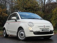 USED 2011 11 FIAT 500 1.2 LOUNGE 3d 69 BHP FULL PANORAMIC ROOF AND BLUETOOTH