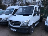 USED 2017 17 MERCEDES-BENZ SPRINTER 2.1 314CDI 1d 140 BHP CREW CAB TIPPER All Vehicles with minimum 6 months Warranty, Van Ninja Health Check and cannot be beaten on price!