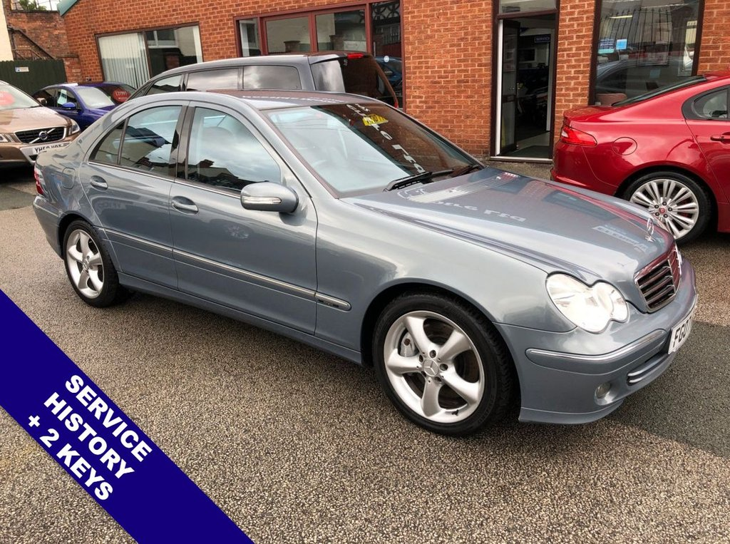 """USED 2007 07 MERCEDES-BENZ C-CLASS 2.1 C220 CDI AVANTGARDE SE 4DOOR 148 BHP Auto Headlights    :    Cruise Control / Speed Limiter    :    Climate Control / Air Conditioning  Full Black Leather Upholstery   :   17"""" Alloy Wheels   :   2 Keys   :   Service History"""
