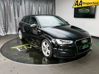 USED 2013 13 AUDI A3 2.0 TDI S LINE 5d 148 BHP £0 DEPOSIT FINANCE AVAILABLE, AIR CONDITIONING, AUDI DRIVE SELECT, AUX INPUT, BLUETOOTH CONNECTIVITY, CLIMATE CONTROL, DAYTIME RUNNING LIGHTS, ELECTRONIC PARKING BRAKE, FULL S LINE LEATHER UPHOLSTERY, SATELLITE NAVIGATION, STEERING WHEEL CONTROLS, TRIP COMPUTER, VOICE ACTIVATED CONTROLS