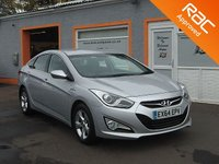 USED 2014 64 HYUNDAI I40 1.7 CRDI ACTIVE BLUE DRIVE 4d 114 BHP £30 road Tax - Start/stop- Bluetooth- Air-conditioning