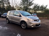 USED 2011 11 NISSAN NOTE 1.5 DCI N-TEC 5d WITH SAT NAV AND SERVICE HISTORY  NO DEPOSIT FINANCE ARRANGED, APPLY HERE NOW