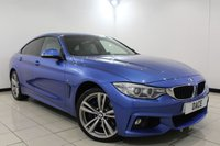USED 2015 15 BMW 4 SERIES 3.0 435D XDRIVE M SPORT GRAN COUPE 4DR AUTOMATIC 309 BHP Sat Nav BMW SERVICE HISTORY + HEATED LEATHER SEATS + SATELLITE NAVIGATION PROFESSIONAL + HARMAN/KARDON SPEAKERS + SUNROOF + BLUETOOTH + CRUISE CONTROL + PARKING SENSOR + CLIMATE CONTROL + MULTI FUNCTION WHEEL + DAB RADIO + 19 INCH ALLOY WHEELS