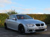 USED 2012 61 BMW 3 SERIES 2.0 320D M SPORT 2d WILLIAMS SERVICE HISTORY * 12 MONTHS MOT * SATELLITE NAVIGATION * FULL HEATED RED LEATHER * BLUETOOTH