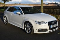 USED 2013 62 AUDI A3 2.0 TDI S LINE 3d Hatchback 148 BHP SERVICE HISTORY, LEATHER SEATING, SATELLITE NAVIGATION, BODY STYLING, BLUETOOTH
