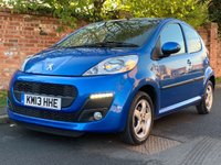 USED 2013 13 PEUGEOT 107 1.0 ALLURE 5d 68 BHP FULL SERVICE HISTORY, 1YR MOT, £0 ROAD TAX, EXCELLENT CONDITION,  ALLOYS, AIR CON, FOGS, E/WINDOWS, R/LOCKING, FREE  WARRANTY, FINANCE AVAILABLE, HPI CLEAR, PART EXCHANGE WELCOME,