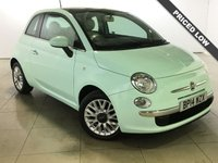 USED 2014 14 FIAT 500 1.2 LOUNGE 3d 69 BHP 1 Owner/Panoramic Glass Roof