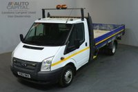 USED 2014 63 FORD TRANSIT 2.2 350 124 BHP EXTRA LWB DROPSIDE LORRY ONE OWNER FULL S/H SPARE KEY