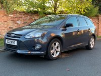 USED 2012 12 FORD FOCUS 1.6 ZETEC 5d AUTO 124 BHP FULL SERVICE HISTORY, MOT NOV 19, ALLOYS, AIR CON, BLUETOOTH, E/WINDOWS, R/LOCKING, FREE  WARRANTY, FINANCE AVAILABLE, HPI CLEAR, PART EXCHANGE WELCOME,