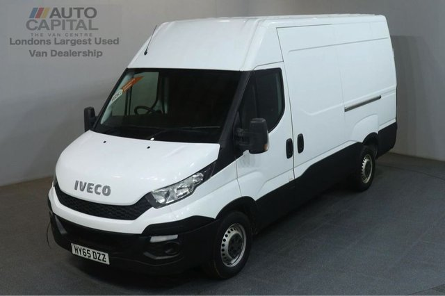 2015 65 IVECO DAILY 2.3 35S13V 126 BHP L2 MWB H/ROOF PANEL VAN ONE OWNER FULL S/H SPARE KEY