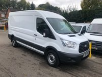 USED 2015 15 FORD TRANSIT 2.2 TDCI, 350 LONG WHEEL BASE, SEMI HIGH ROOF, 155 BHP, BLUETOOTH, *NEW ENGINE FITTED*