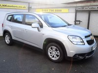 USED 2011 11 CHEVROLET ORLANDO 1.8 LT 5d 141 BHP * FREE DELIVERY AND WARRANTY *