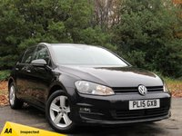 USED 2015 15 VOLKSWAGEN GOLF 1.6 MATCH TDI BLUEMOTION TECHNOLOGY 5d 103 BHP LOW MILEAGE FAMILY DIESEL CAR