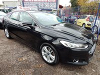 USED 2015 65 FORD MONDEO 2.0 TITANIUM TDCI 5d 177 BHP COLOUR SCREEN SAT NAV, BLUETOOTH, ALLOY WHEELS, F.S.H