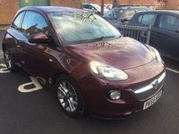 USED 2015 65 VAUXHALL ADAM 1.2 JAM 3d 69 BHP ONLY 7366 MILES AND FULL HISTORY!..CHEAP TO RUN , LOW CO2 EMISSIONS, LOW ROAD TAX AND EXCELLENT FUEL ECONOMY! GOOD SPECIFICATION INCLUDING PARKING SENSORS, ALLOY  WHEELS, AIR CONDITIONING ,AUXILLIARY INPUT AND USB CONNECTION!