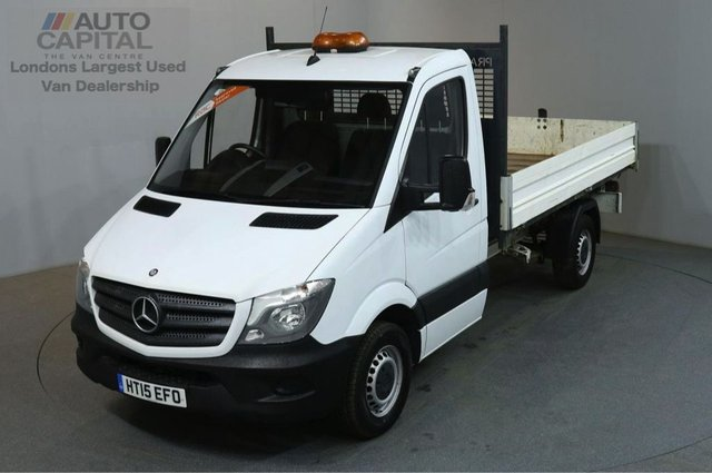 2015 15 MERCEDES-BENZ SPRINTER 2.1 313 CDI MWB 129 BHP SINGLE CAB TIPPER REAR BED LENGTH 11 FOOT 4 INCH