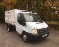 USED 2012 62 FORD TRANSIT T350 2.2 TDCI CHELSEA BODIED PLASTIC REFUSE VEHICLE WITH TIPPING BODY