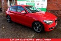 USED 2014 14 BMW 1 SERIES 2.0 118D SPORT 5d 141 BHP +SAT NAV +LOW TAX +FSH.