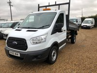 USED 2015 65 FORD TRANSIT 2.2 350 TIPPER 125HP ONLY 33000  MILES ONE OWNER FROM NEW