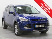 USED 2015 15 FORD KUGA 2.0 TITANIUM TDCI 5d AUTO 177 BHP 4 x 4 AWD 1 Owner, Full Service History, this stunning Ford Kuga 4x4 AWD in Deep Blue represents a huge saving over new car list price with just 6,429 miles. In addition this car comes with a fantastic specification including Half Leather, Privacy Glass, Front & Rear Parking Sensors, Park Pilot, Heated Front and Rear Windscreen, Electrically Operated Tailgate, Air Con, Bluetooth, Alloys, Cruise Control and an MOT until 20th June 2019.