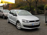 USED 2014 14 VOLKSWAGEN POLO 1.2 S A/C 5d 60 BHP LOVELY CAR INSIDE AND OUT, GREAT CONDITION, AIR CONDITIONING, CENTRAL LOCKING, METALLIC PAINT, CD PLAYER