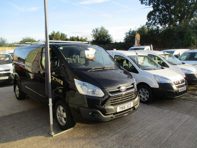 2016 16 FORD TRANSIT CUSTOM 2.2 TDCi 125ps LTD LWB L2  H1 Low Roof PANTHER BLACK PEARL
