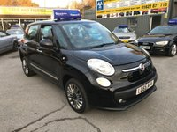USED 2015 65 FIAT 500L 1.4 LOUNGE 5 DOOR 95 BHP IN METALLIC BLACK WITH ONLY 26000 MILES. APPROVED CARS ARE PLEASED TO OFFER THIS FIAT 500L 1.4 LOUNGE 5 DOOR 95 BHP IN METALLIC BLACK WITH ONLY 26000 MILES IN IMMACULATE CONDITION INSIDE AND OUT WITH A GOOD SPEC AND A FULL SERVICE HISTORY A GREAT SMALL FAMILY