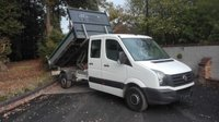 USED 2016 16 VOLKSWAGEN CRAFTER 2.0 CR35 TDI DOUBLE CAB TIPPER Low Mileage Double Cab Tipper, One Owner