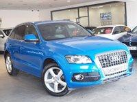 USED 2011 11 AUDI Q5 2.0 TDI QUATTRO S LINE 5d AUTO 170 BHP RARE SPRINT BLUE+SAT NAV+FSH